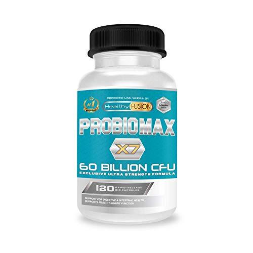 Probiótico [60 billones de CFU] | Fórmula única de amplio espectro | Probióticos microencapsulados para evitar su degradación | Mejora el sistema inmunológico | 120 cápsulas de liberación prolongada