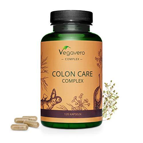 Colon Care Complex Vegavero | Detox + Digestión + Limpieza Intestinal + Colon Irritable + Toxinas | 120 Cápsulas | Probióticos con Jengibre + Psyllium + Hinojo + Capsicum Annuum