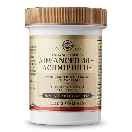 Solgar 40+ Acidophilus Avanzado para una flora intestinal equilibrada - 60 cápsulas vegetales