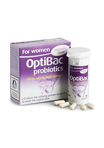OptiBac Para Mujeres   Suplemento Oral Femenino Diario   2.3 Mil Millones de Bacterias Buenas Para el Área Íntima   Lactobacillus Rhamnosus & Reuteri (Caja de 14 Cápsulas)